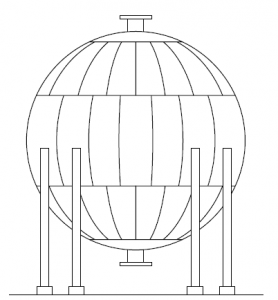 Vaso de pressão esférico