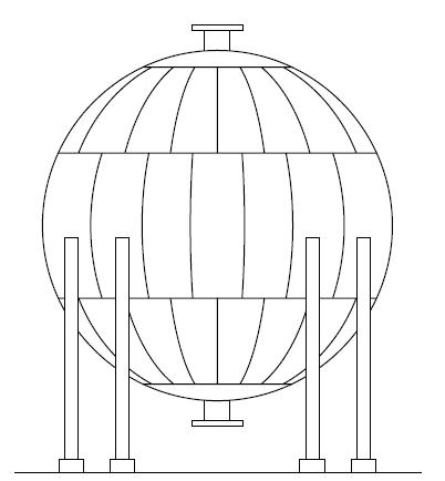 B - Vaso de pressão esférico