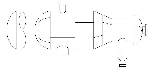 C - Vaso de pressão horizontal